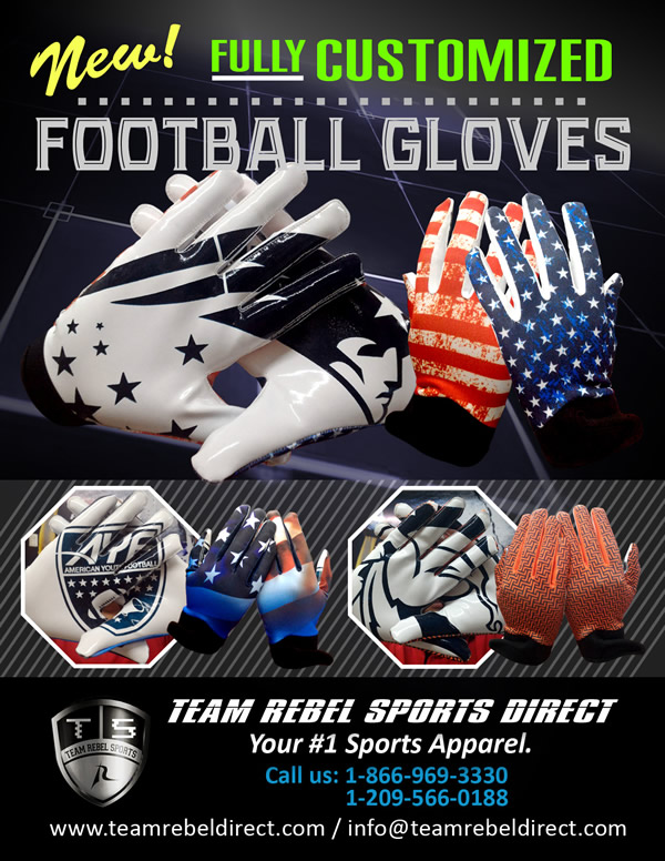 Custom American Football Gloves